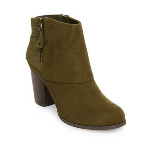 Madden Girl Destroy Olive Green Booties